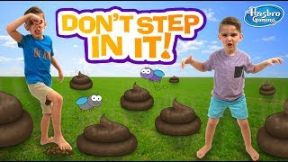 DON'T STEP IN IT!!! Blindfolded Poop Dodging Game (GROSS)