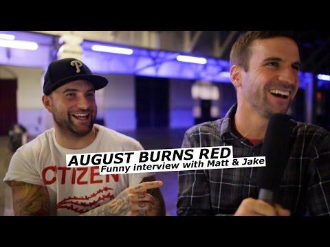 AUGUST BURNS RED interview with Matt Greiner & Jake Luhrs   www.pitcam.tv