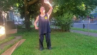 (Video #58) Qi Gong (Chi Kung): Ba Duan Jin (8 Section Brocade) Techniques #1-4