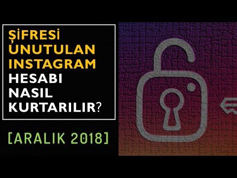 Instagram şifremi Unuttum. Ne Yapabilirim?