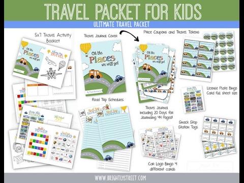 Etsy shop travel printables children salt lake city utah  - traveler's notebooks, etsy shops &