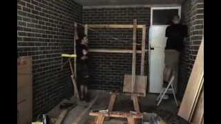Building Garage Shelves In Time Lapse