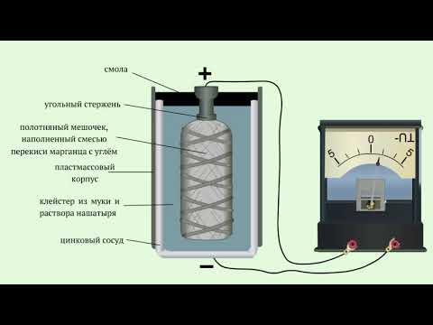 Как устроен сухой гальванический элемент