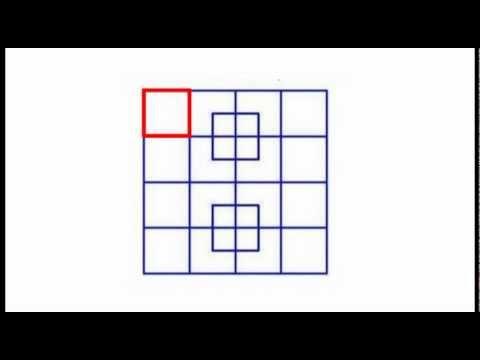 Resposta - Quantos quadrados há na figura? 40 (teste de visão)