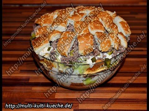 Burgersalat Burger Salat Youtube