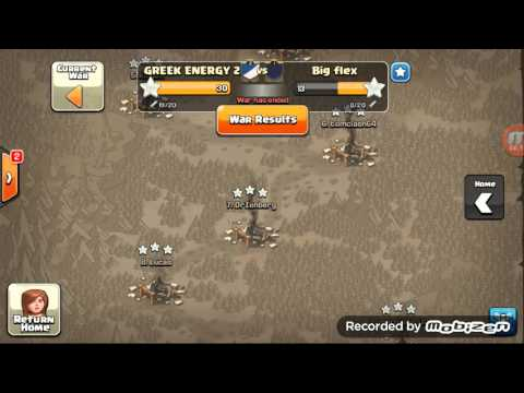 Clash with Greek Energy - maxed war 3 star atacks