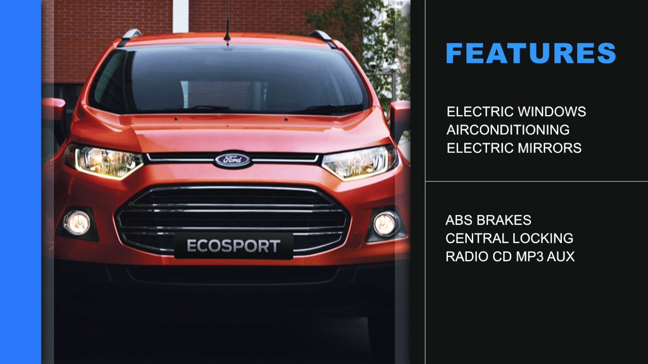 Special offer ford ecosport 1 5tivct ambiente cmh ford