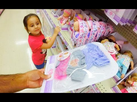 BABY DOLL CLOTHES SHOPPING