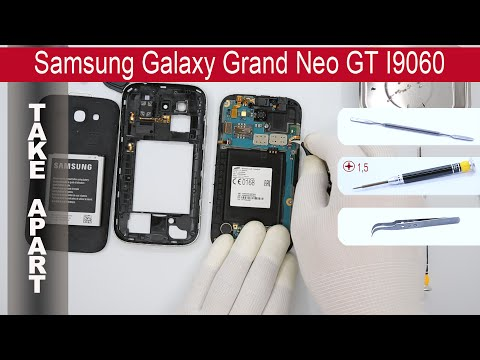 How to disassemble Samsung Galaxy Grand Neo GT-I9060, Take Apart, Tutorial