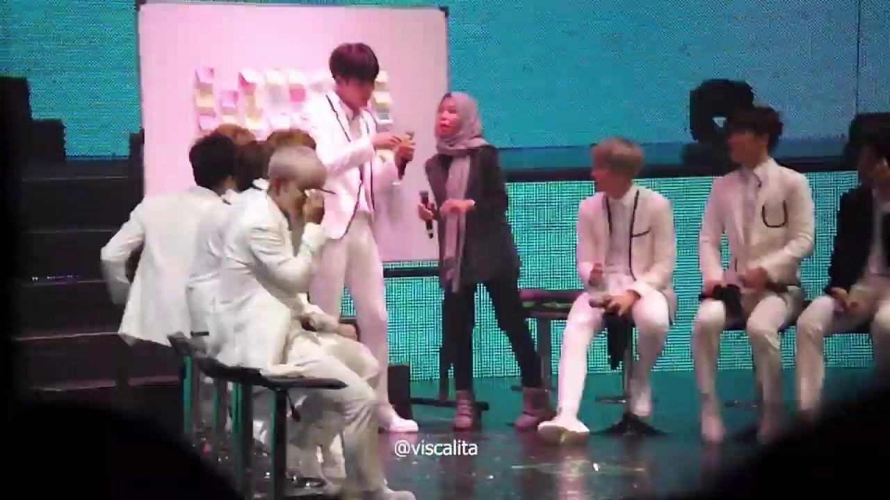 160820 SEVENTEEN Shining Diamond in JKT - Mingyu said 'aku cinta kalian'