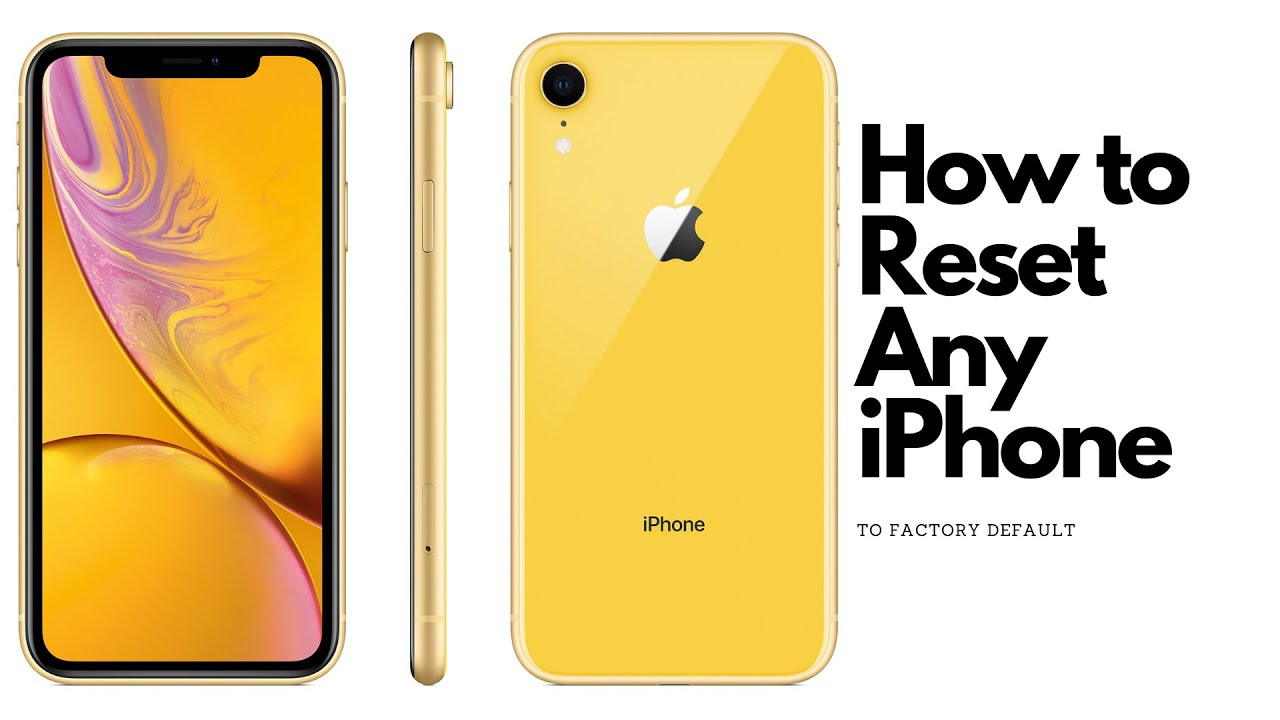 How To Reset Any iPhone | Factory Default