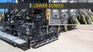 Paving by the Numbers for Cat® F-Series Pavers with Vibratory Screeds