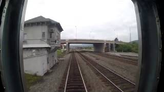 NS Pittsburgh Line - Altoona to Johnstown Incl Horseshoe Curve Rear View (Go Pro)