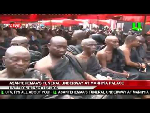 Funeral Rites for Asantehemaa underway at Manhyia Palace