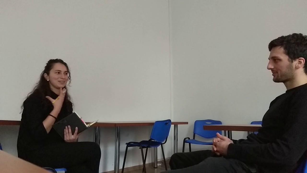 სპონტანური ინტერვიუ ილიაუნიშიspontaneous interview