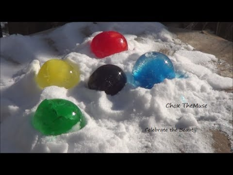 'Frozen Orbs' Frozen Water Balloons With Food Coloring