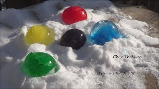 """frozen Orbs"" Frozen Water Balloons With Food Coloring"