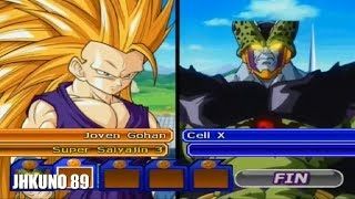 JOVEN GOHAN SSJ 3 TEAM vs CELL X TEAM | DRAGON BALL Z BUDOKAI TENKAICHI 3