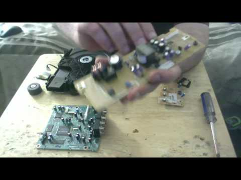 Scrapping out a Sony CD/DVD player for precious metal recovery