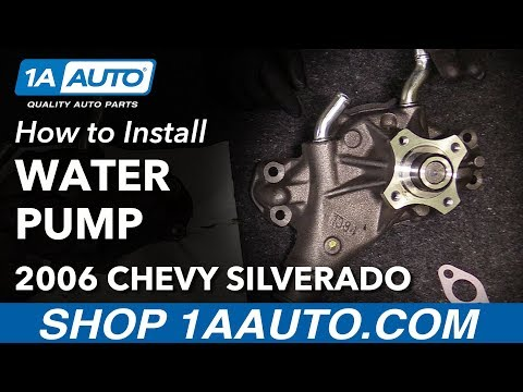 How to Replace Engine Water Pump 99-13 Chevy Silverado 1500 V6 4.3L
