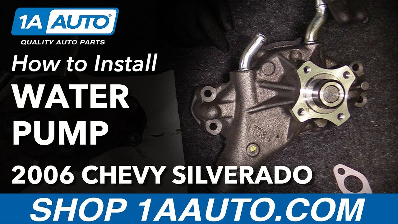how to install replace engine water pump 1999 2013 chevy silverado 1500 v6 4 3l [ 1280 x 720 Pixel ]