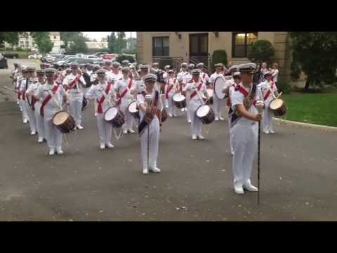 US Merchant Marine Academy Morning Colors March In