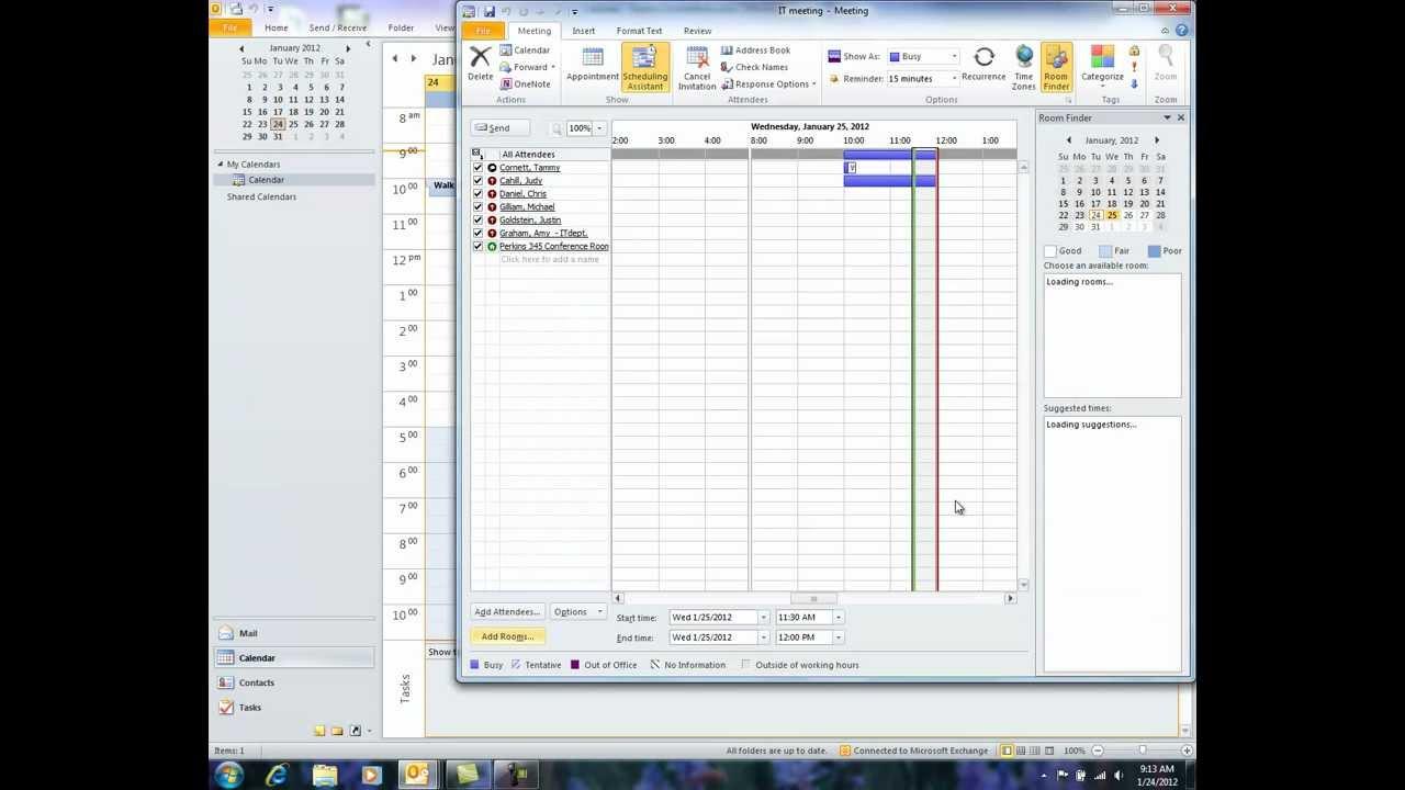 Outlook 2010 Room Finder It Youtube