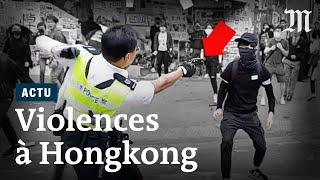 Chaos à Hongkong : Tirs à balles réelles et homme brûlé vif