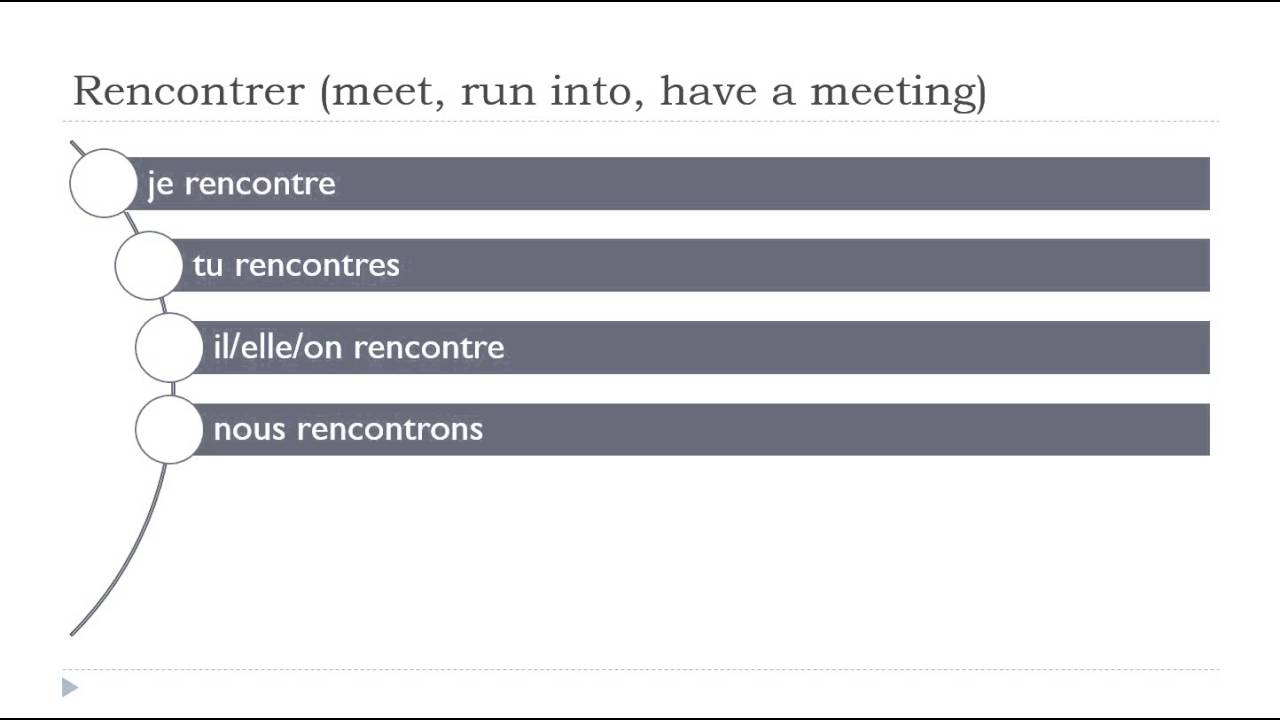 Simple Conjugations for the French Verb Rencontrer