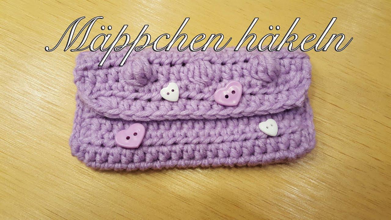 Mäppchen häkeln mit MyBoshi Wolle Mini Tasche häkeln - YouTube