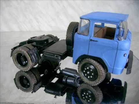 Papercraft 1:25 soviet classic truck KAZ-608  (paper model)
