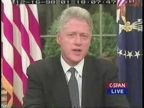 President Clinton orders attack on Iraq