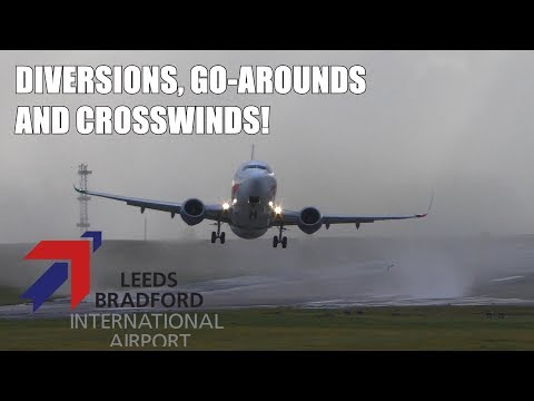 45KT+ (55MPH) CROSSWIND Landings And Takeoffs - STORM Erik, Leeds Bradford - Piloting SKILL!