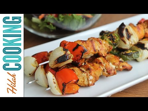 How To Make Chicken Skewers |  Grilled Chicken Kebab Recipe