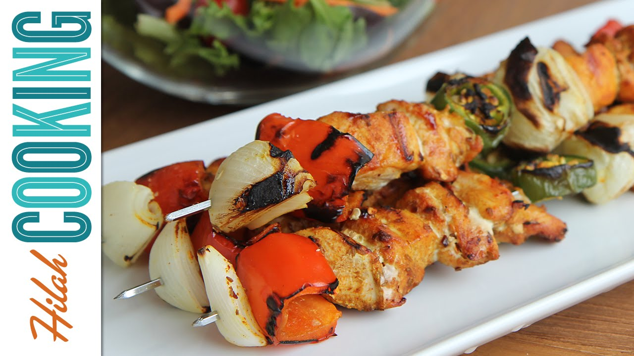 How To Make Chicken Skewers Grilled Chicken Kebab Recipe Youtube