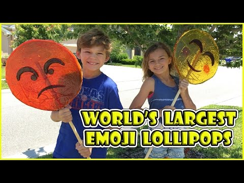 Thumbnail: WE MAKE THE WORLD'S LARGEST EMOJI LOLLIPOPS - DIY | We Are The Davises