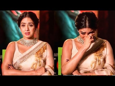 Sridevi Crying In Her Last Interview | Emotional Speech