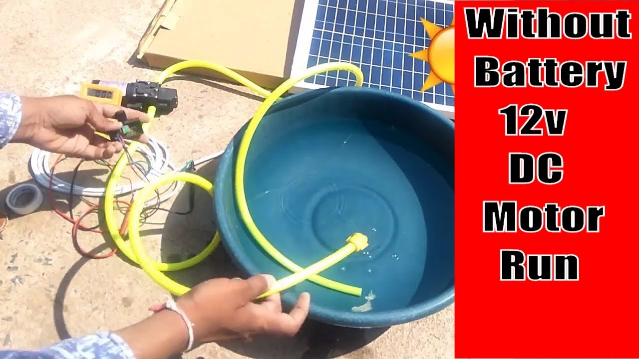 How to run 12v dc motor pump without battery using solar. - YouTube