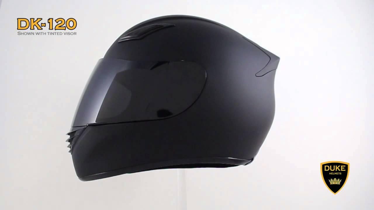Matte Black Full Face Motorcycle Helmet Duke Dk 120