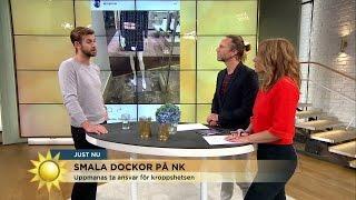 Pär Lernströms kritik mot smala dockor på NK - Nyhetsmorgon (TV4)