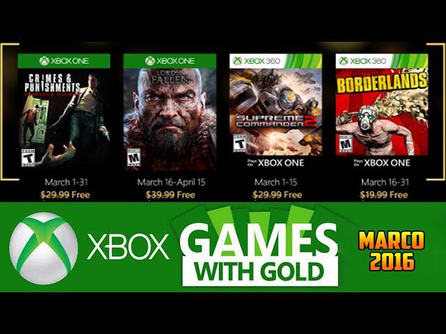 Jogos GrÁtis Xbox Live Gold De MarÇo 2016 (xbox 360 / Xbox One)