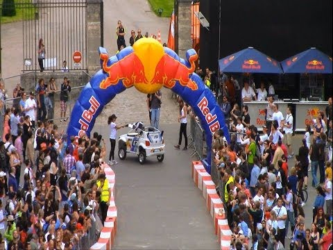 Red Bull Soapbox crashes 2014 France crash with Sebastien Ogier, Cyril Despres,Stephane Peterhansel
