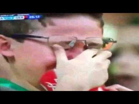 Brazil Fan Crying during the match Brazil vs Germany 1 7 World Cup 2014