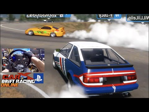 CarX Drift Racing PS4 ONLINE FULL LOBBY!! Does My Wheel Work?? (First Impressions)