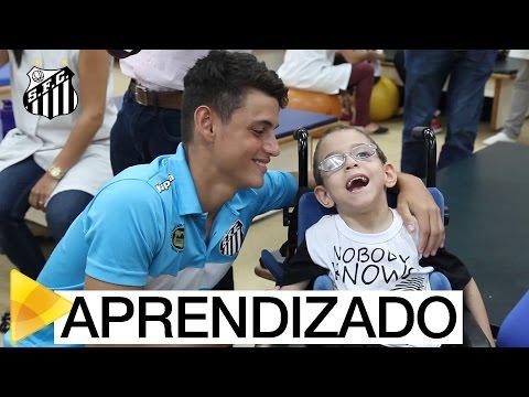 Em tarde especial, Sub-17 do Santos visita AACD em São Paulo