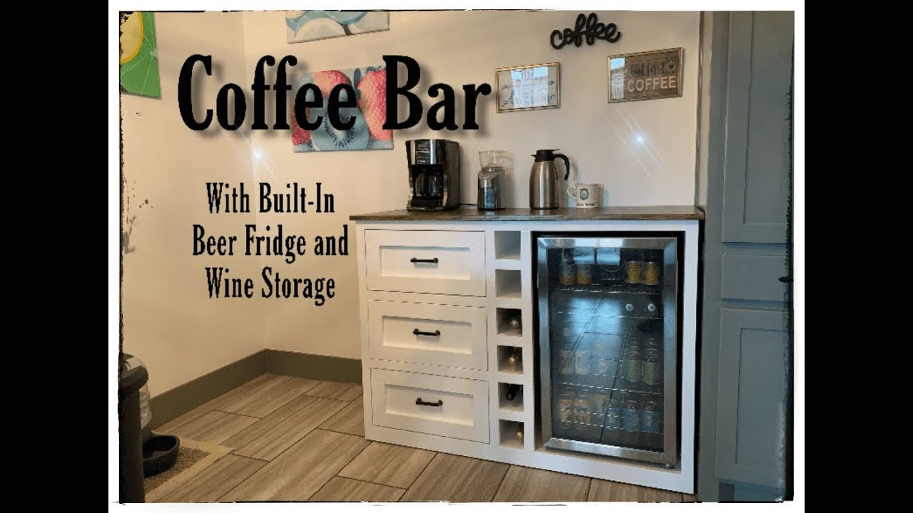 Diy Coffee Bar With Built In Beer Fridge And Wine Storage