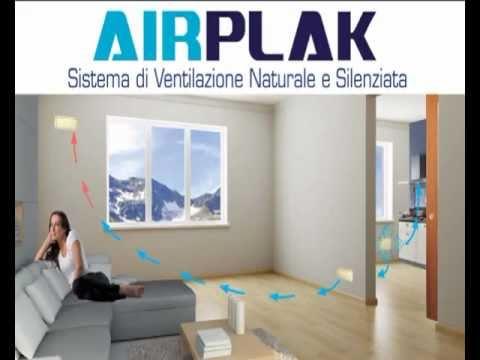 AIRPLAK Sistema di ventilazione naturale silenziata - YouTube