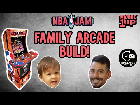 Arcade1Up NBA Jam RARE DELUXE LIMITED EDITION TIMELAPSE BUILD! from Infinity Collectors