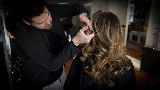 Long Layered Haircut Tutorial   MATT BECK VLOG 99