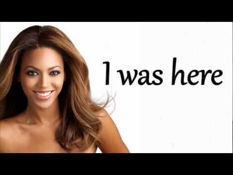 Beyoncé - I was here lyrics